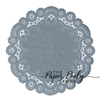 STEEL BLUE French Lace Doilies