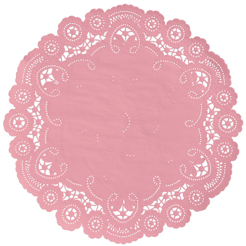 STRAWBERRY PINK French Lace Doilies