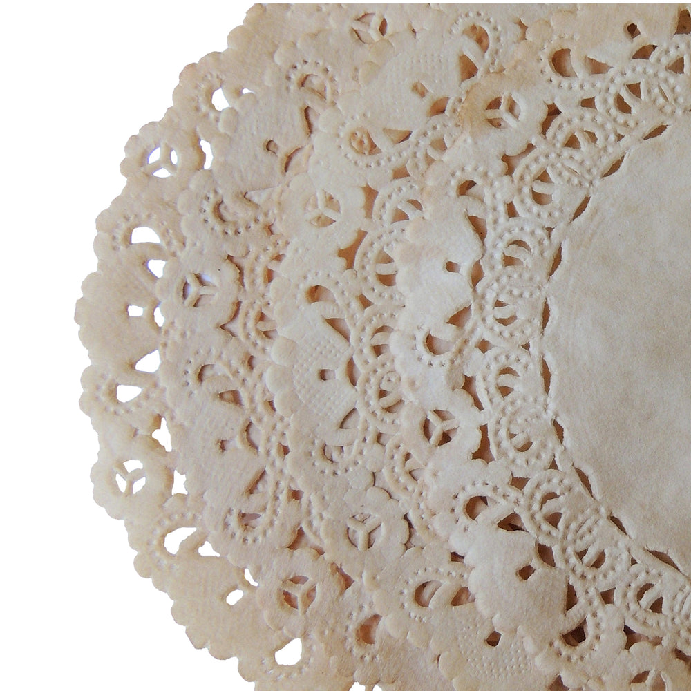 "LIGHT TEA STAINED WALNUT Round Paper Doilies | Normandy | Chargers, Placemats, Invitations | 4"", 5"", 6"" 8"", 10"", 12"", 14"", 16"""