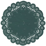 TROPICAL GREEN French Lace Doilies