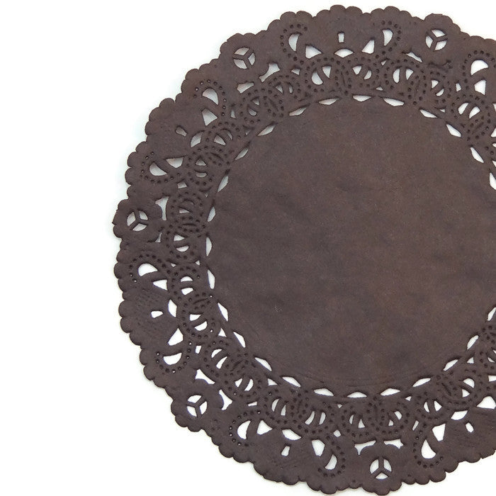 Coffee Bean Brown Normandy Doilies