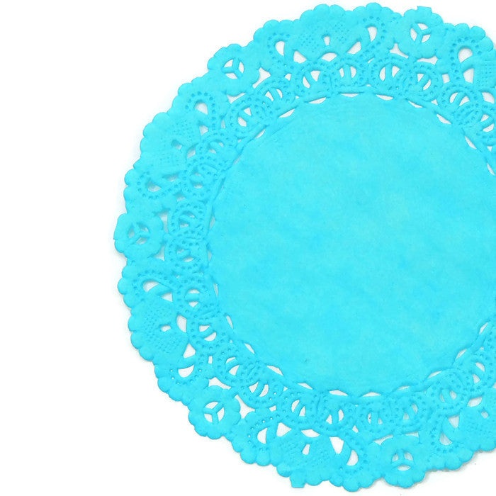 TURQUOISE Blue Normandy Doilies