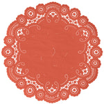 TUSCAN ORANGE French Lace Doilies