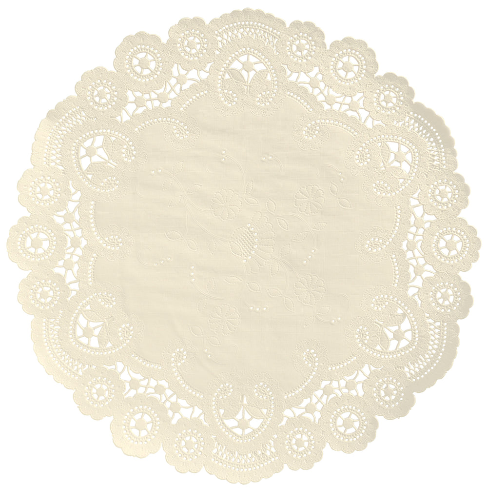 VANILLA CREAM French Lace Doilies