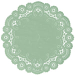 VINTAGE GREEN French Lace Doilies