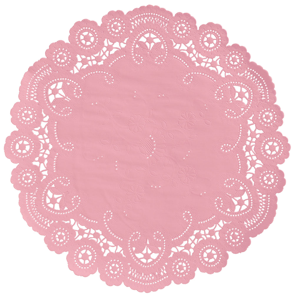 VINTAGE PINK French Lace Doilies