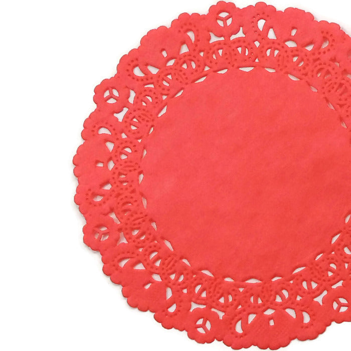 Poppy Red Normandy Doilies