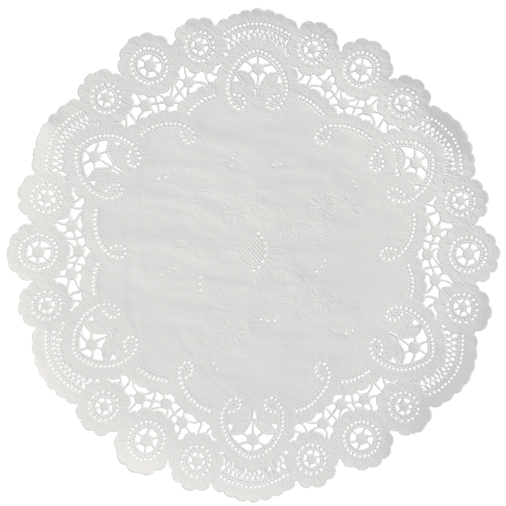 WHITE French Lace Doilies