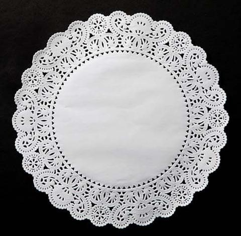 "100-12/"" White LANCASTER Flower /& Leaves PAPER LACE DOILIESWhite Doily"