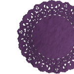 PLUM Purple Normandy Doilies