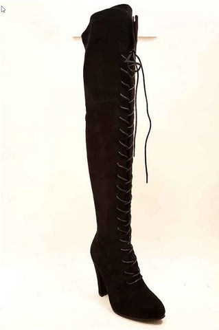 Black Lace Me Up Boots