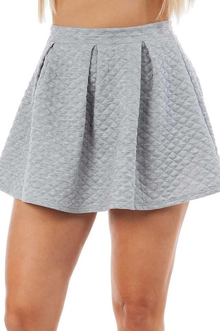 Grey Dainty Skater Skirt