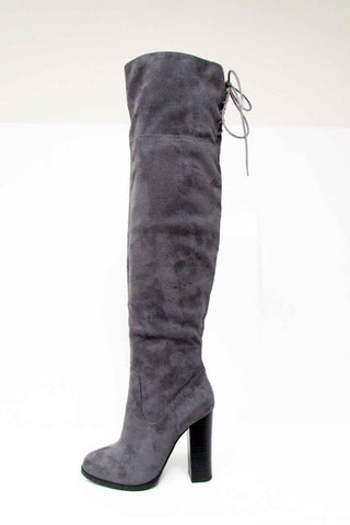 Lithium Grey Tame Me Boots