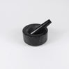 dark stone mortar and pestle