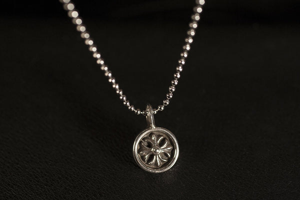 Mini Cross Coin Pendant