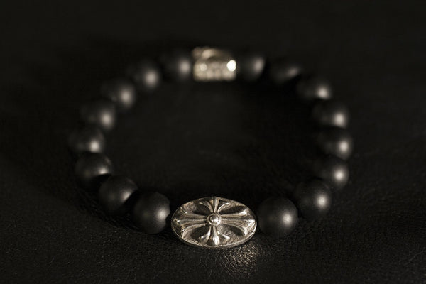 Beaded cross bracelet