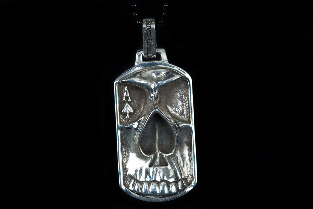 Ace of spades dog tag pendant ace of spades dog tag aloadofball Image collections