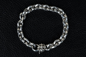 V Cut Cross Chain Bracelet- Small