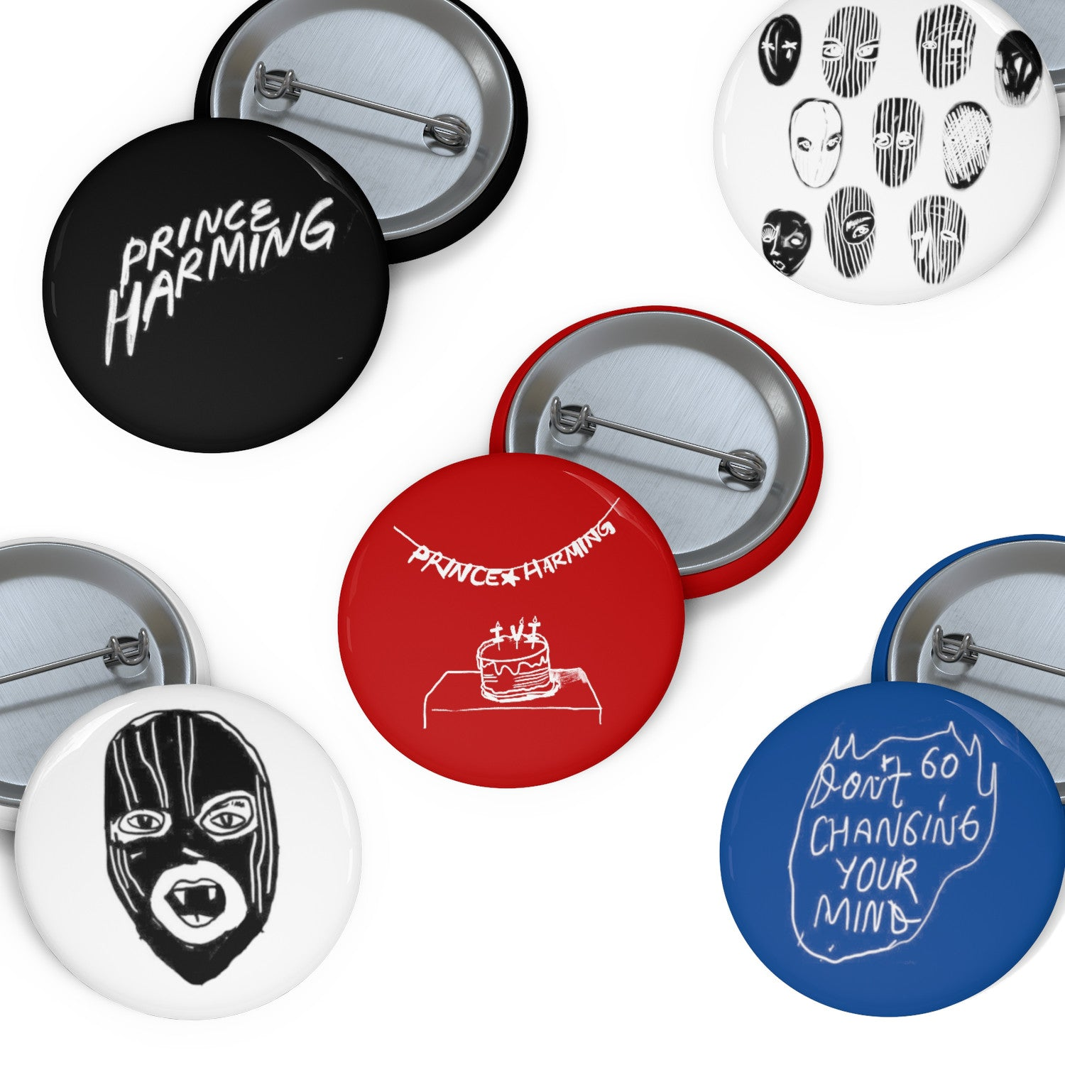 Prince Harming Button Pack
