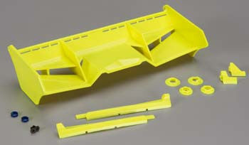 JCONCEPTS 0128Y Finnisher 1/8 Buggy/Truck Wing w/Gurney Yellow
