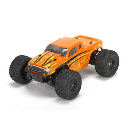 ECX Ruckus 01000T2 1/18 4WD Monster Truck RTR, Orange/Yellow ECX01000T2