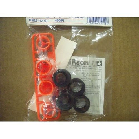 TAMIYA 15112 Super Low-Height Sponge Tire & Wheel Set *DISC*