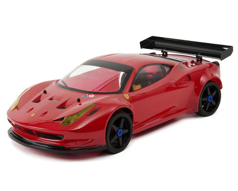 KYOSHO 30940B Inferno GT2 VE Race Spec Ferrari 458 Italia ReadySet 1/8 Electric On-Road Kit w/KT-201