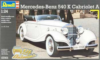 REVELL 07001 1/24 Mercedes Benz 540K Convertible