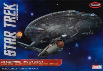 POLAR LIGHTS POL898/12 1/1000 Star Trek NX-03 Refit