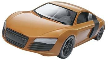 REVELL 85-1687 1/24 Audi R8 Orange Build/Play SnapTite