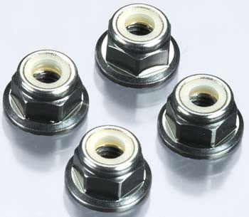 TEKNO TKR1213 M4 Locknuts Aluminum/Flanged/Serrated