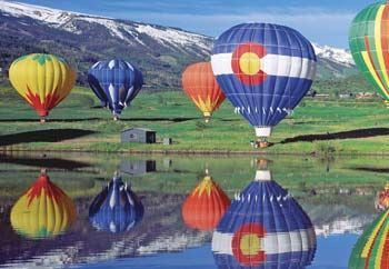 HOBBICO HCAY3006 ClearView 500pc Puzzle Balloons Over Colorado *DISC*