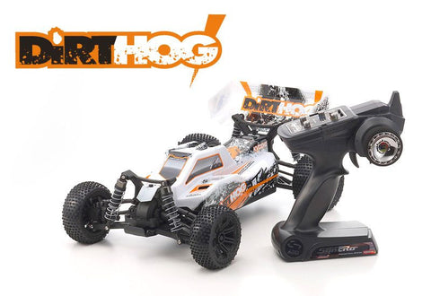 KYOSHO 30993T1B Dirt Hog 1/10th 4WD Electric Off Road Buggy w/2.4GHz, Battery & Charger (Orange)