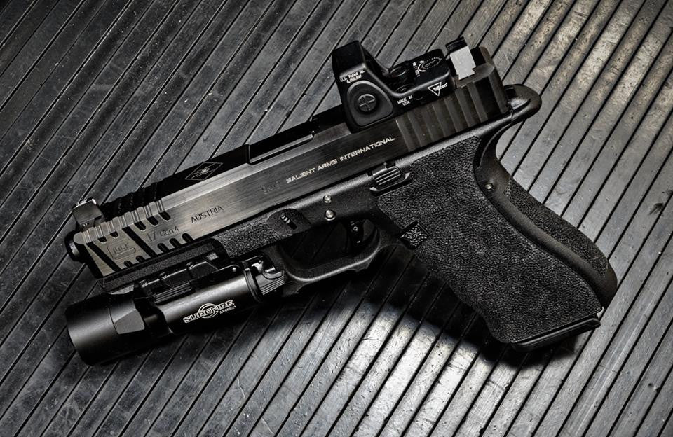 "COLION NOIR "" SAI / SALIENT ARMS INTERNATIONAL"" SUPREME MODIFIED GLOCK 19"