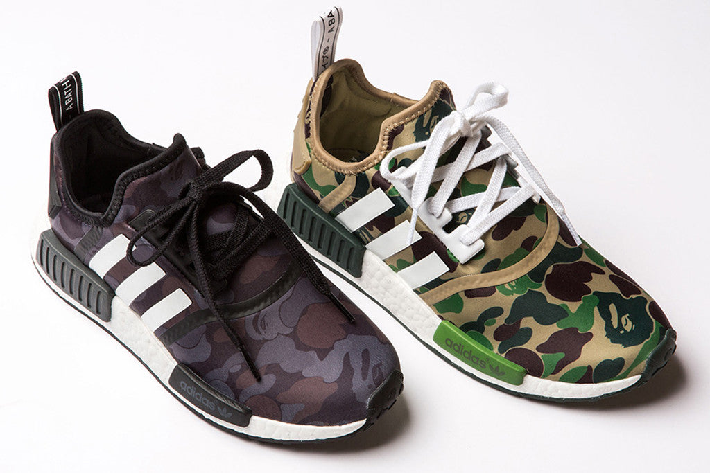 Bape and Adidas Anticipated NMD SNEAKERS Collaboration Drops on November 26 (Article)