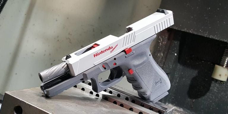This NES Zapper is actually a modified Glock GUN that fires real bullets!