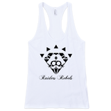 """BLACK DIAMOND / RAIDER"" FINE JERSEY RACER TANK TOP  (ladies cut)"