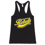 """CLASSIC OLD SCHOOL RR"" fine jersey racer Tank Top (ladies cut only)"