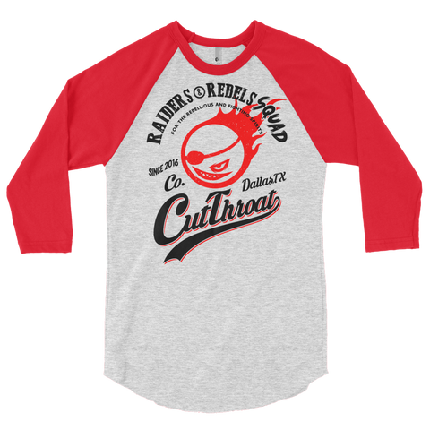 """  CUT THROAT / RR SQUAD  "" BASEBALL TEE"