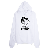 """ Y.O.L.O"" ( YOU ONLY LIVE ONCE )  FLEECE PULLOVER HOODIE"
