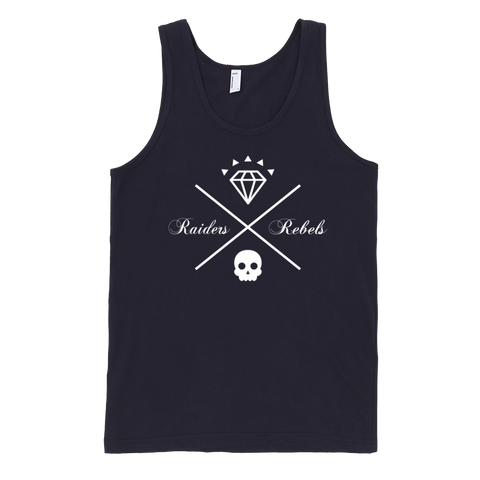 "THE ""ONE AND ORIGINAL X"" RAIDERS & REBELS tank top (UNISEX)"