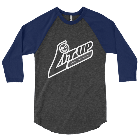 """LIT UP / LITUP""  baseball raglan 3/4 Sleeve T-Shirt"