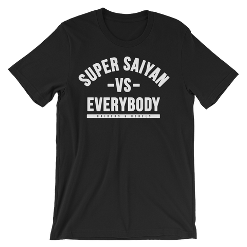 """    SUPERSAIYAN VS EVERYBODY V.1 "" tee"