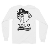 """  YOLO "" long sleeves Jersey Tee / Crewneck (WOMEN CUT) / WHITE VERSION"