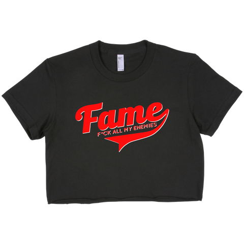 FAME (f*ck all my enemies) cropped top