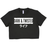 DARK & TWISTED LIFE cropped top