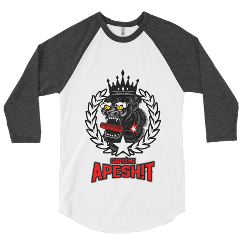 Suprême APESHIT BASEBALL TEE by Raiders & Rebels Clothing