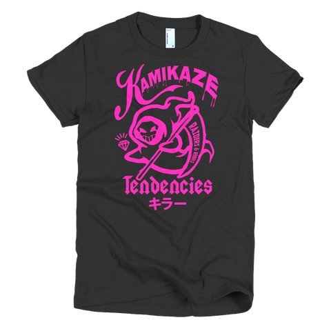 """  KAMIKAZE TENDENCIES "" tee (women's cut only)"