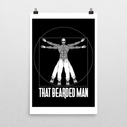 """ That BEARDED MAN "" poster 24 * 36"