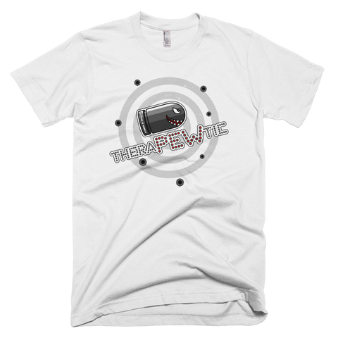 """ TheraPEWtic  BULLET"" t-shirt"